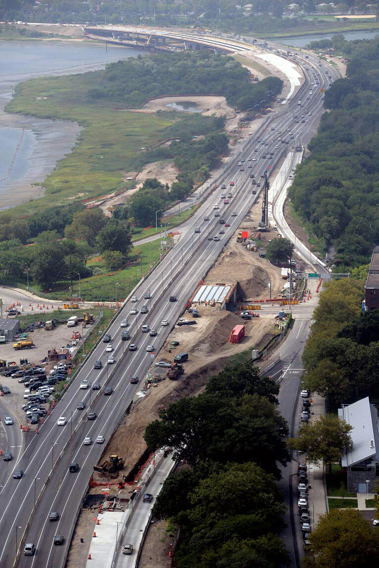 Aerial Shot of Structurally Deficient Bridges