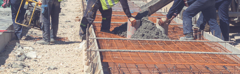 Construction Workers Performing Bridge Rehabilitation